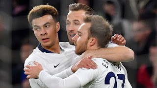 Harry Kane, Dele Alli and Christian Eriksen Tottenham Hotspur