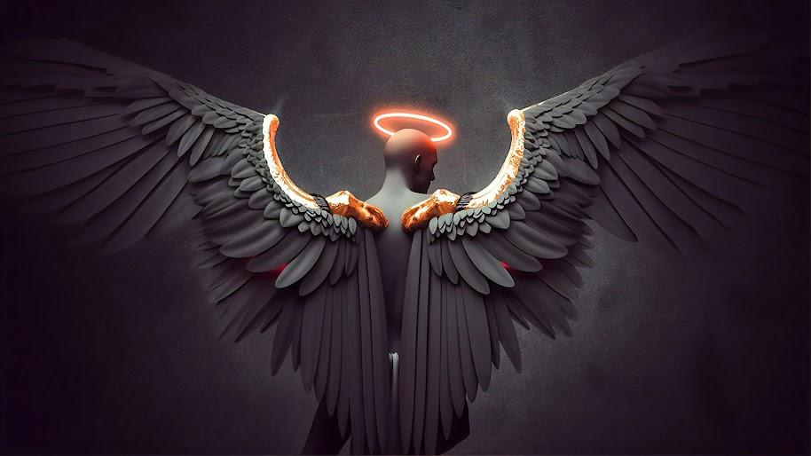 Angel, Angel Wings, Digital Art, 4K, #120