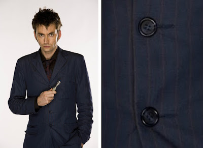 10th Doctor blue suit buttons