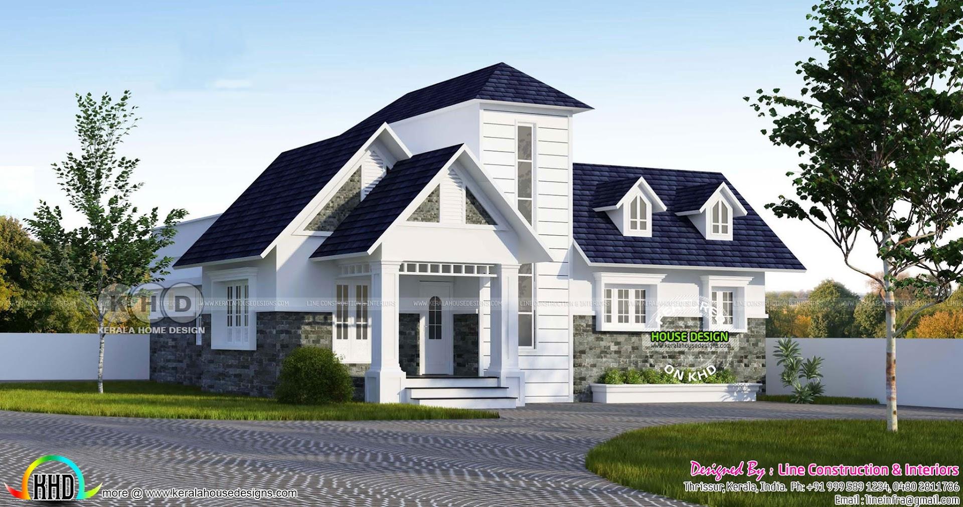 double storied look like single floor european model home kerala rh bloglovin com  european style home design wedding