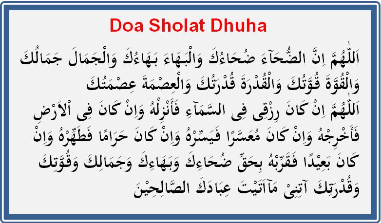 Bacaan Doa Setelah Sholat Dhuha Lengkap Dengan Tulisan Latin