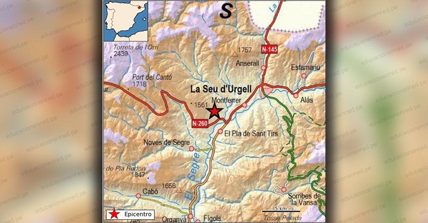 Temblor en España de Magnitud 4.3 (Hoy Miércoles 3 Abril 2019) Sismo Epicentro - Ribera de Urgellet - Lérida - Alto Urgel - IGN - www.ign.es