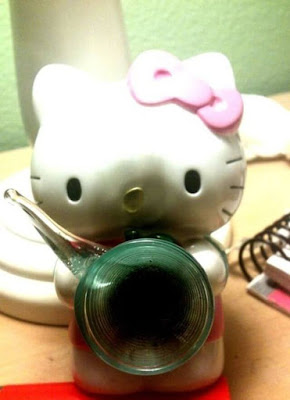Kitty Homemade Bong