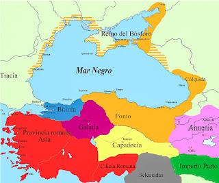 Imperio Romano, Ponto Euxino, Gálatas, partos, Dacios