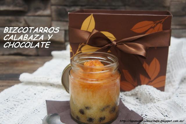 BIZCOTARROS DE CALABAZA Y CHOCOLATE ... Y MUCHAS MÁS IDEAS EN TARRO