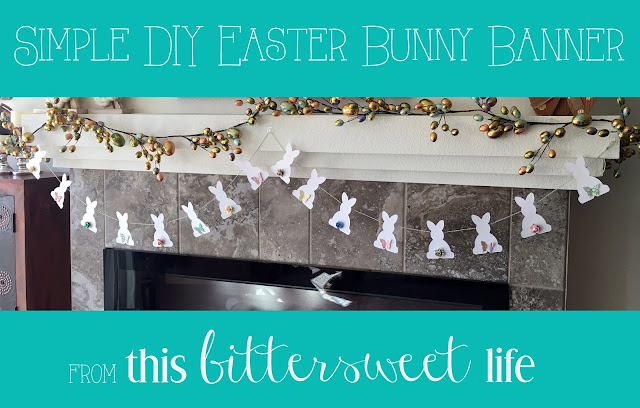 Simple DIY Easter Bunny Banner with free template | Alice Scraps Wonderland & This Bittersweet Life