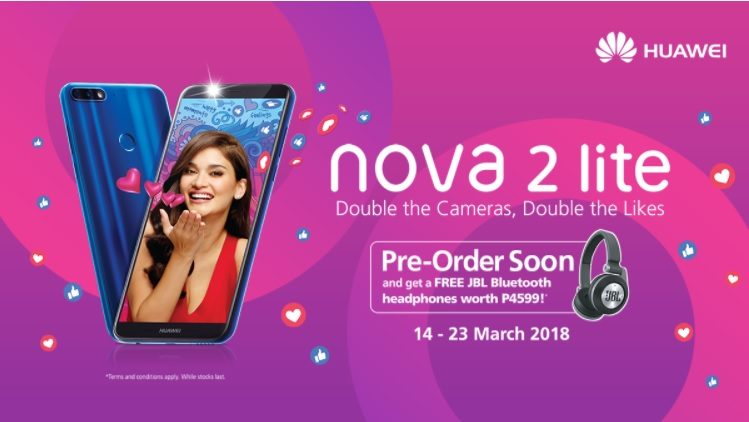 Huawei Nova 2 Lite Is Priced at Php9,990; Pre-order Starts on March 14!