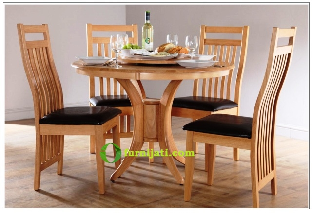 Meja makan kayu jati 4 kursi 1