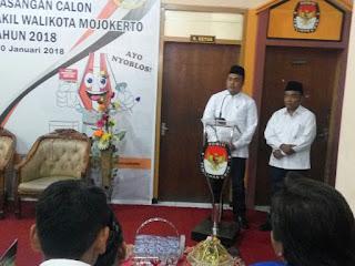 WALI Pendaftar Pertama Pilwali Mojokerto