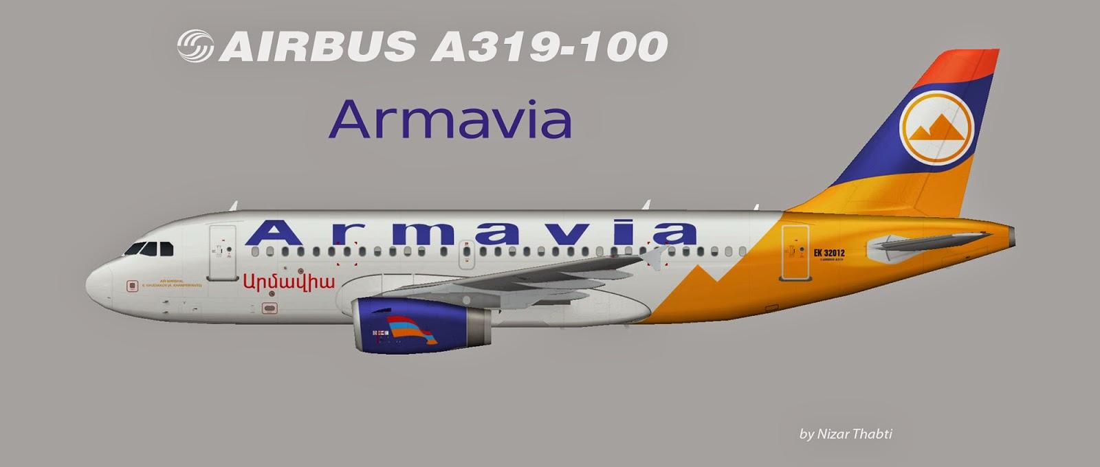 Armavia Airbus A319-100 EK32012, FAIB, FSX, FS2004, Prepar3D
