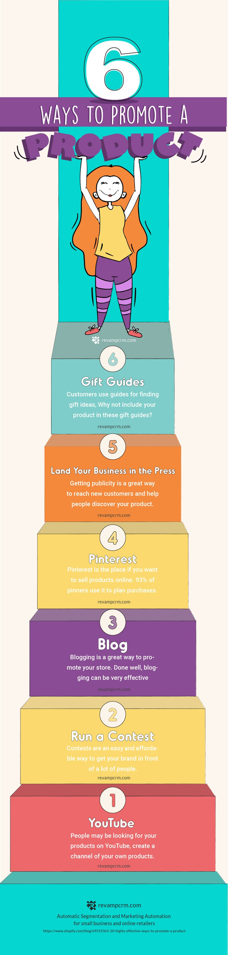 6 Ways to Promote your Online Store Products - #Infographic