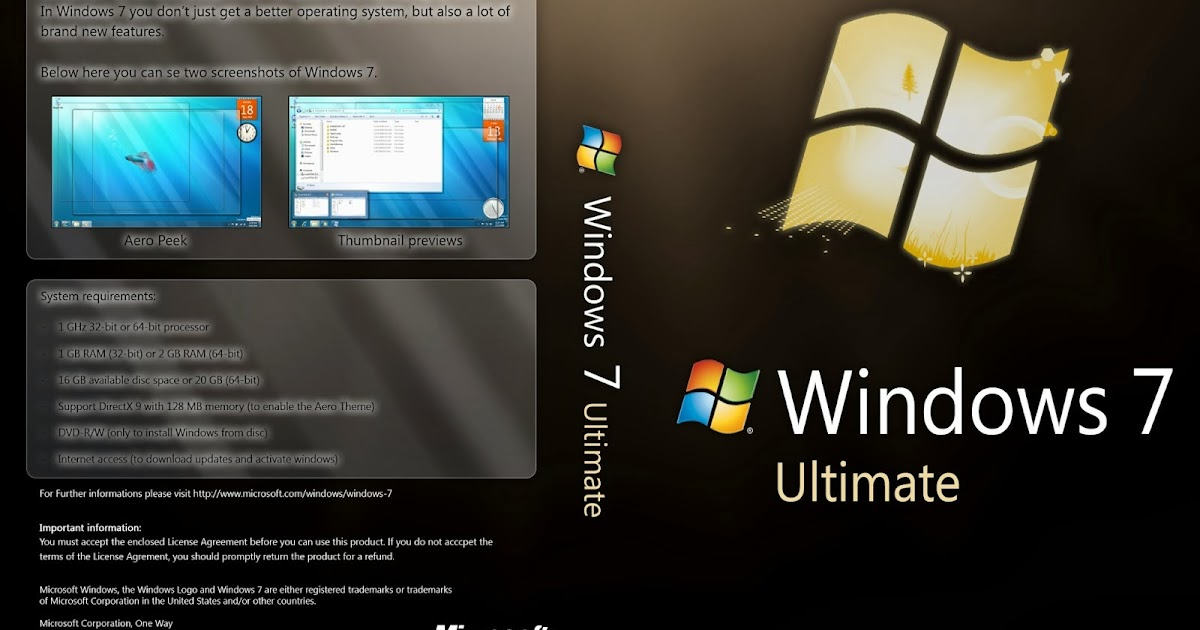 Windows 7 Ultimate Fully Activated Genuine x86 x64 Download free