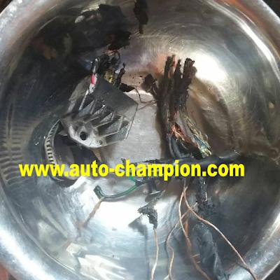 kabel motor terbakar