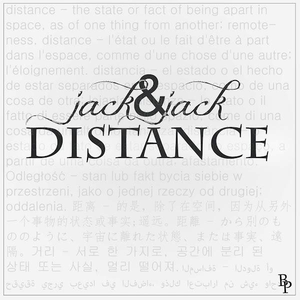 Jack & Jack - Distance - Single Cover