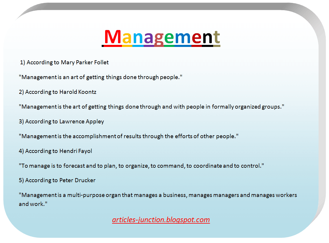 The Definition of Management