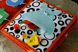 Quiet book for Lennox, Handmade busy book by TomToy, Hippo