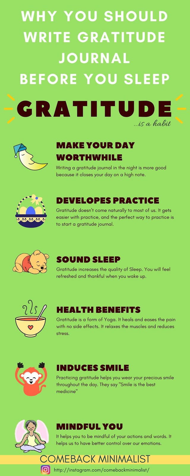 Why Gratitude practice is good - Infographic