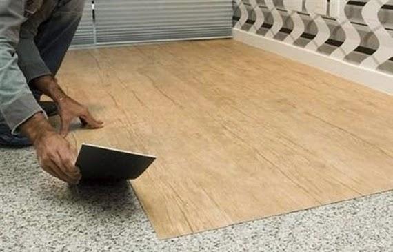 Com arte e amor piso vin lico autoadesivo como instalar - Colocar piso vinilico ...