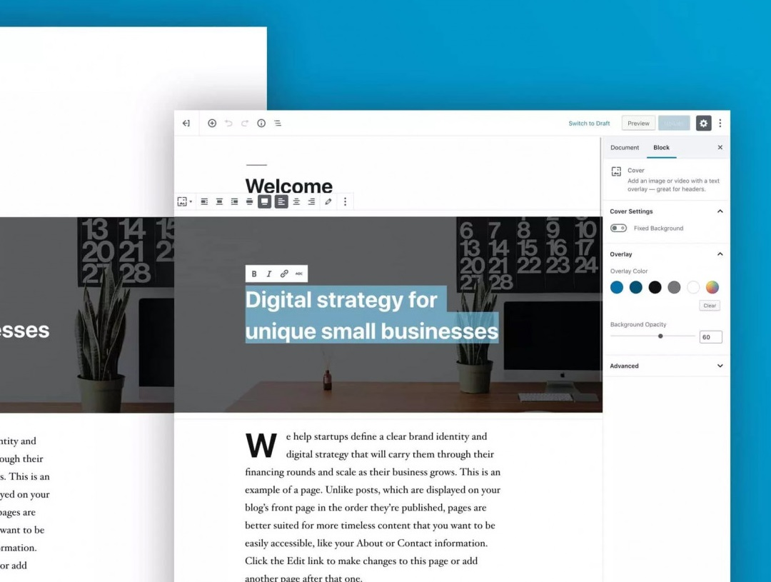 WordPress 5.0 introduces a flexible block-based content editor