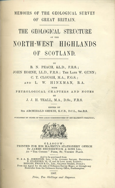 Title page of the famous North-West Highlands Memoir
