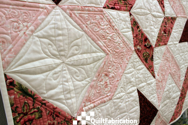 Joy square quilting motif