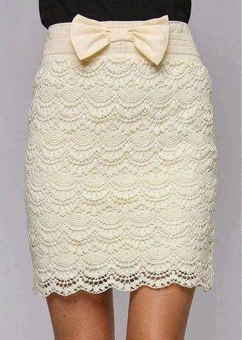 Falda Romántica a Crochet