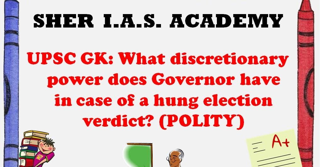 discretionary power of governor