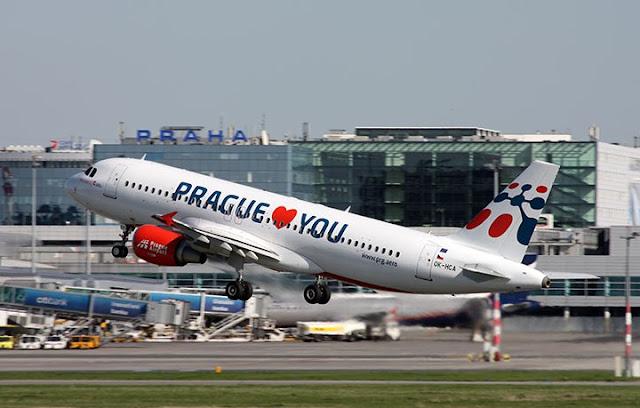 Tempo de avião até Praga