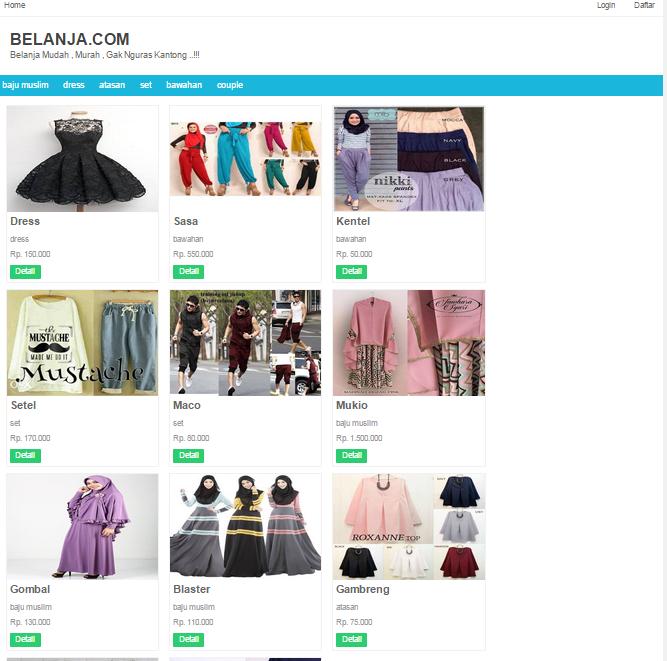 Source Code Aplikasi toko online hijab sederhana php gratis - Lapakcode