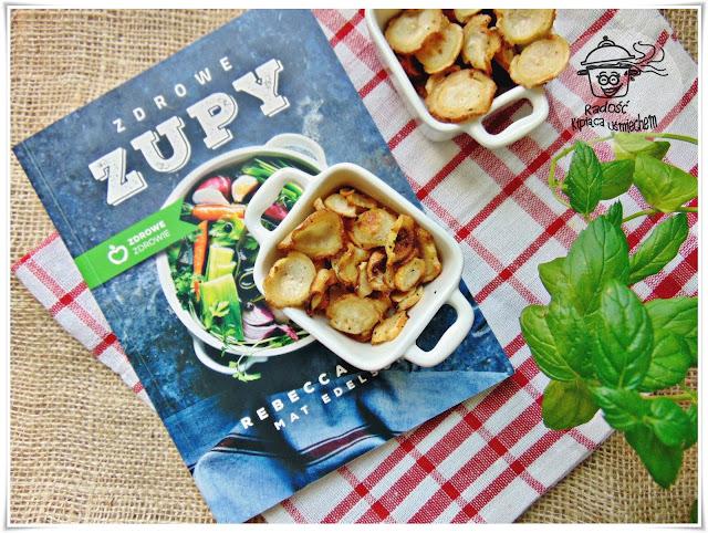 Chipsy pietruszkowe inspirowane książką Zdrowe Zupy.