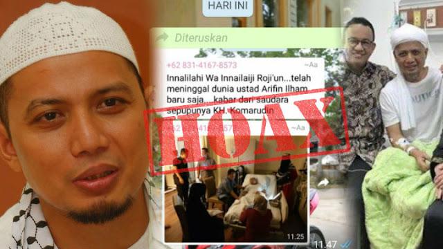 Hoax Ustadz Arifin Ilham Meninggal Dunia,  Begini Fakta Kondis Beliau Sekarang