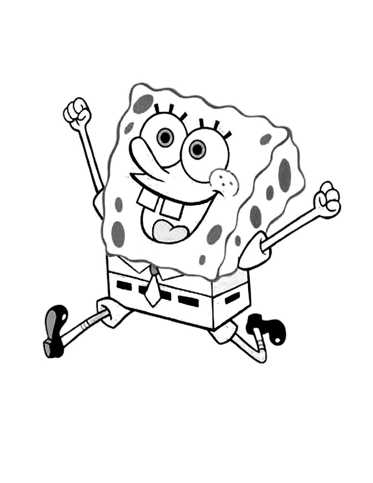 59 Gambar Mewarnai Kartun Spongebob Himpun Kartun