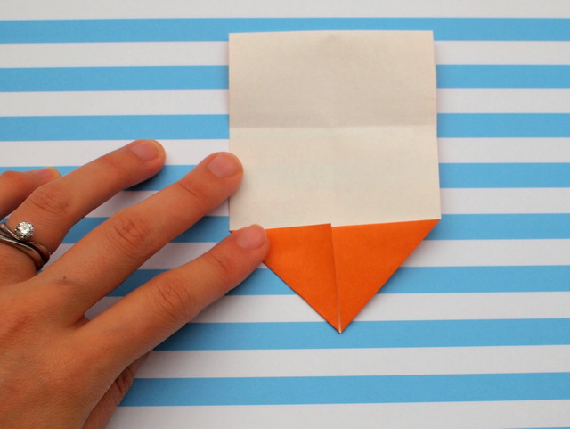 how to fold an origami ice cream cone- great kids craft