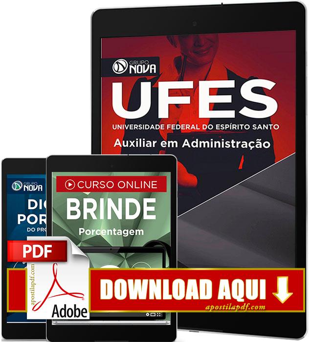 Apostila UFES 2016 PDF Download Auxiliar em Administração