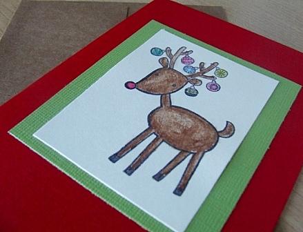 Handmade Christmas Deer Card