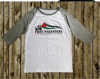 Jual Kaos Raglan Palestina Desain Children Palestine