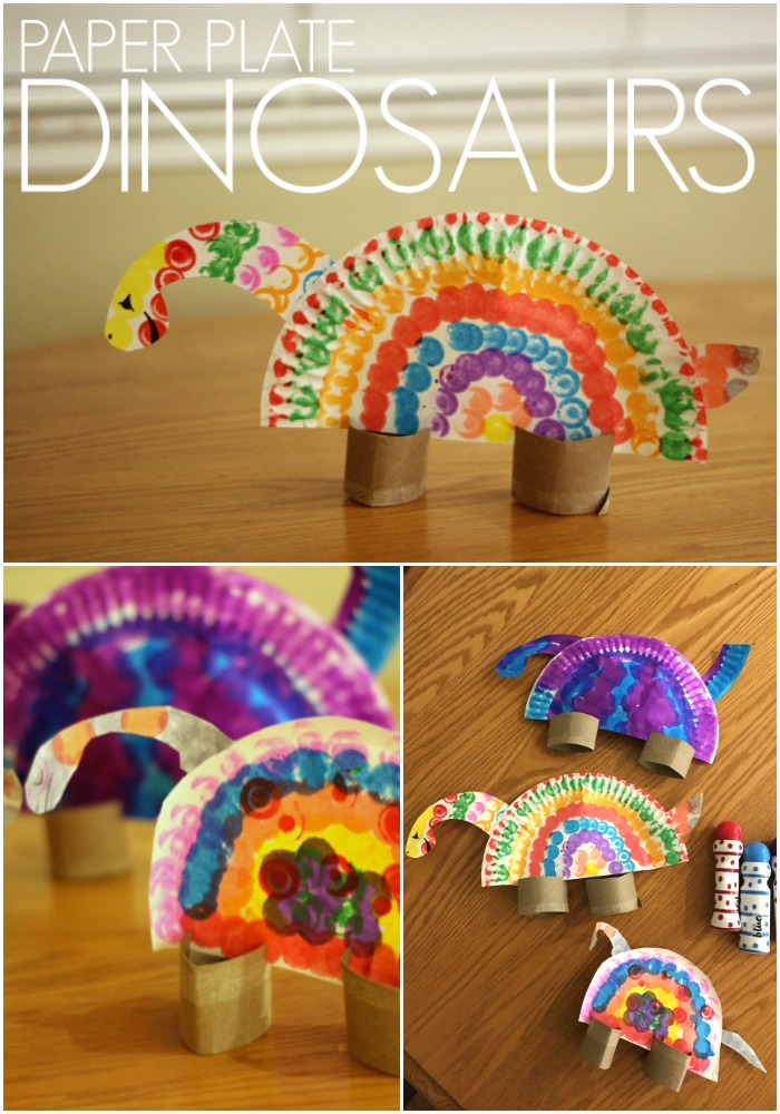 Toddler approved colorful paper plate dinosaurs for kids for Dinosaur crafts for toddlers