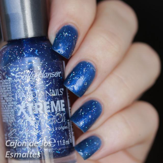 Sally Hansen 423 Blue Boom Uñas Decoradas Con Estrellas Cajon