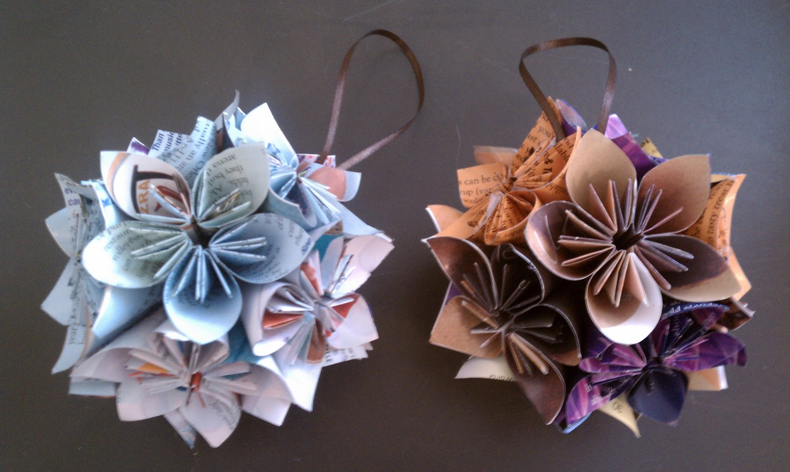 Origami Christmas Ornaments Click On The Link To Get Instructions