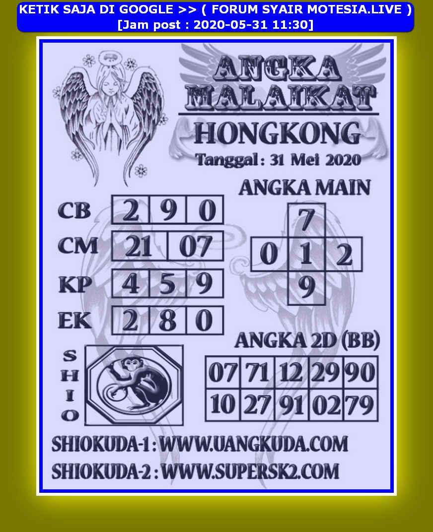 Kode syair Hongkong Minggu 31 Mei 2020 263