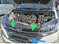 Krom Grill Depan : Daihatsu Ayla 1.2 R