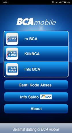 Tampilan Mobile BCA