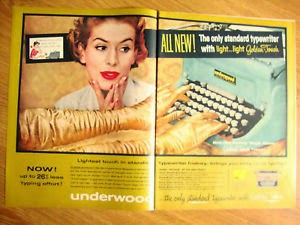 Underwood Golden-Touch Typewriter Magazine Advertisement