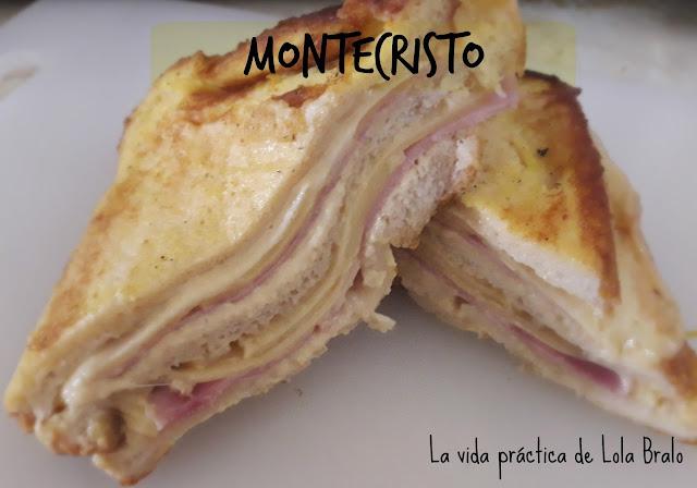 Sandwich de queso y jamón rebozado en huevo