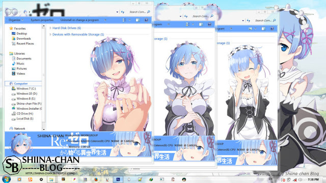 Re:Zero kara Hajimeru Isekai Seikatsu - Rem Theme Win 7 by Enji Riz Lazuardi