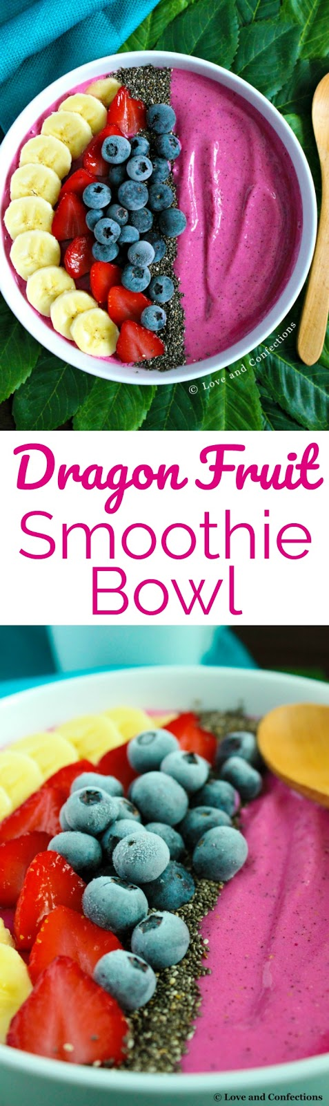 Dragon Fruit Smoothie Bowls from LoveandConfections.com #SundaySupper #JuneDairyMonth