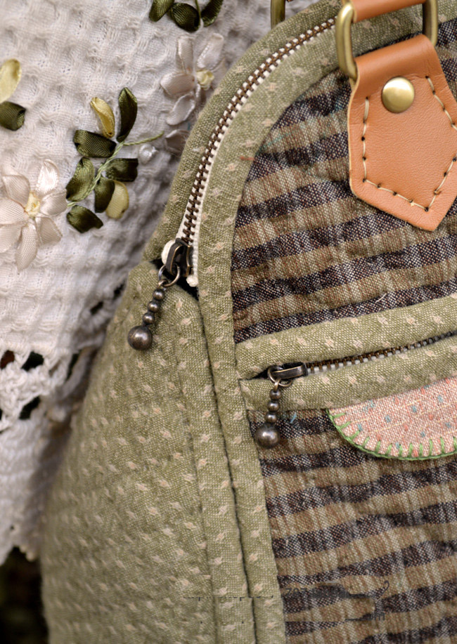 Стеганая сумка.  Как сшивать фотографии.  Японское стеганое одеяло