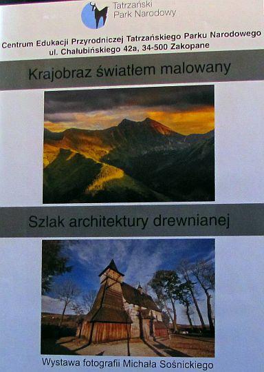 Wystawa fotografii Michała Sośnickiego w Muzeum Przyrodniczym TPN.