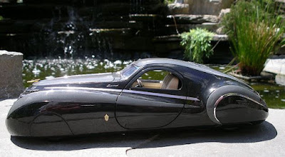 Duesenburg Coupe Simone Midnight Ghost side angle view