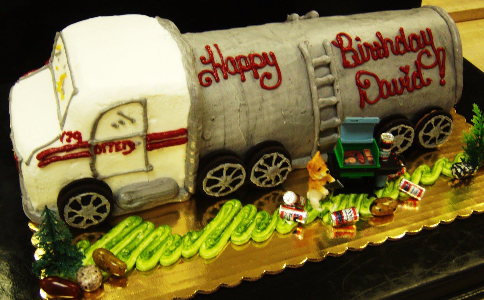 Suzy Homefaker Tanker Truck Cake